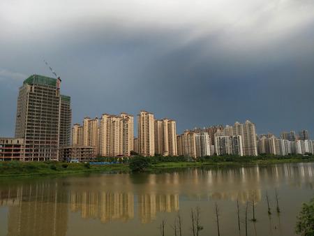 Xin Wei Jiang city scenery