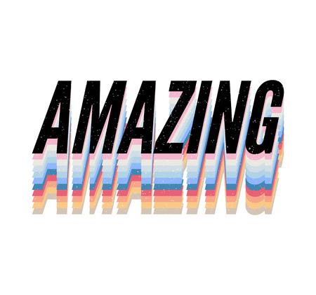 Illustration pour slogan Amazing phrase graphic vector Print Fashion lettering - image libre de droit