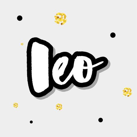 12 Zodiac Signs Capricorn Aquarius Pisces Aries Taurus Gemini Cancer Leo Virgo Libra Scorpio Sagittarius and Lettering - Black Calligraphy on White Background - Vector Hand Drawn