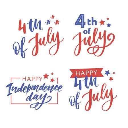Illustration pour illustration of 4th of July Background with American - image libre de droit