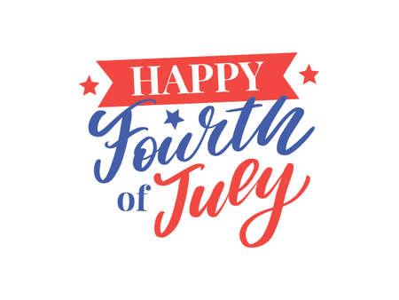 Ilustración de stylish american independence day design - Imagen libre de derechos