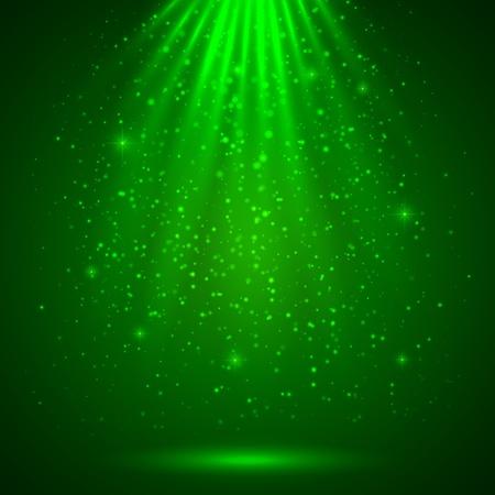 Illustration pour Green magic light abstract background - image libre de droit