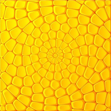 Ilustración de Yellow corn bricks vector abstract background - Imagen libre de derechos