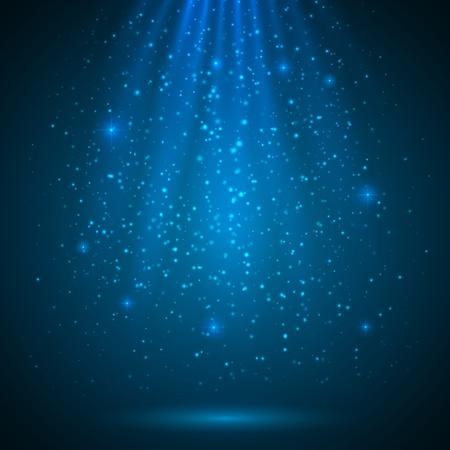 Illustration for Blue shining magic light vector background - Royalty Free Image