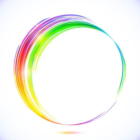 Photo pour Rainbow vector abstract circle frame - image libre de droit