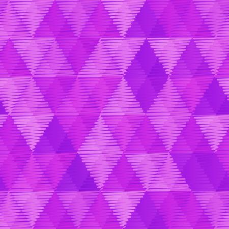 Purple Retro Textile Triangles