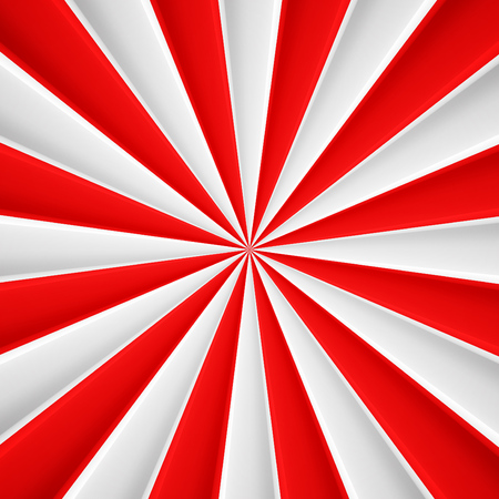 Illustration for Red and white abstract rays circle vector poster background - Royalty Free Image