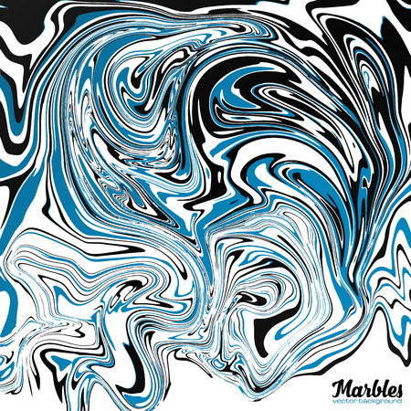 Black, blue and white marble watercolor style abstract vector background