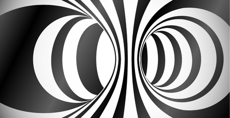 Vector circles surface optical illusion abstract background