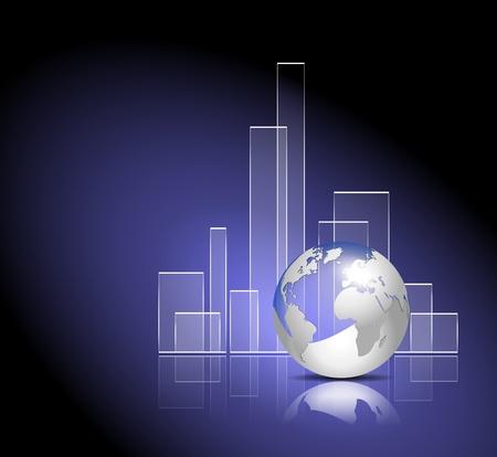 Finance graph - global business template