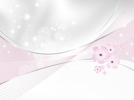 Illustration pour Flower background - white and pink floral design - image libre de droit