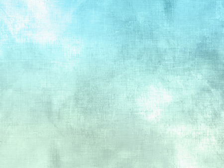 Blue green watercolor background pastel - abstract soft sky texture with clouds