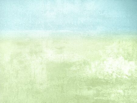 Foto de Blue green watercolor background - abstract natural pastel spring landscape - Imagen libre de derechos