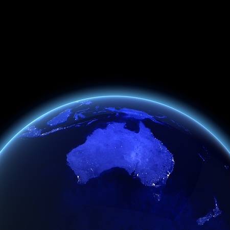 Australia and New Zealand. Maps from NASA imagery