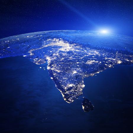 India city lights.