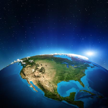 Photo pour North America from space.  - image libre de droit