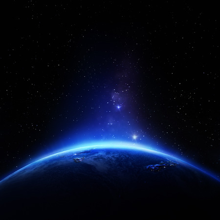 Photo pour Australia and New Zeland. Elements of this image furnished by NASA - image libre de droit