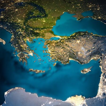 Photo pour Turkey and Greece map. - image libre de droit