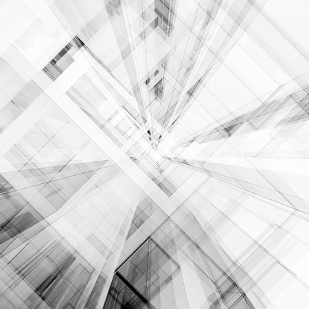 Photo pour Abstract architecture. Concept view background 3D rendering - image libre de droit