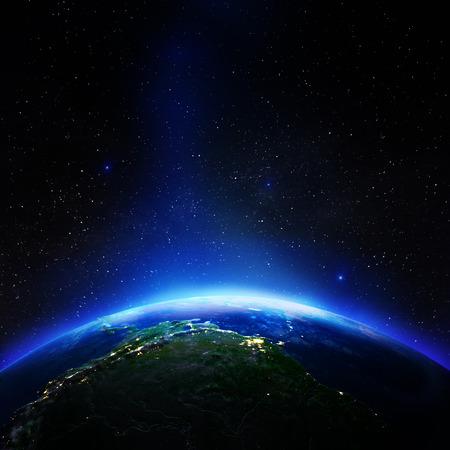 Photo pour South America from space.   3d rendering - image libre de droit