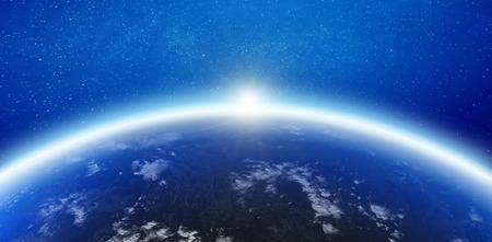 Foto de Atmosphere Earth horizon. - Imagen libre de derechos