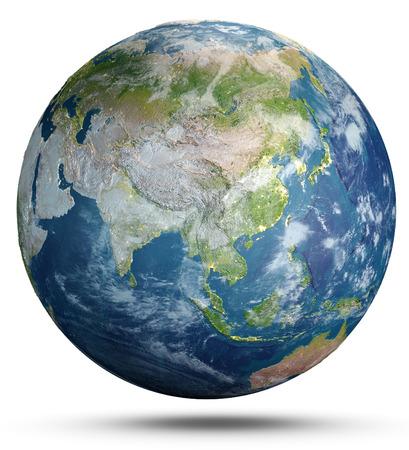 Photo pour Planet Earth weather.  3d rendering - image libre de droit