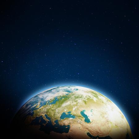 Foto de Europe clouds. 3d rendering - Imagen libre de derechos