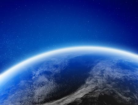 Foto de Earth climate from space. - Imagen libre de derechos