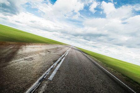 Photo pour Clear highway road outdoor background - image libre de droit