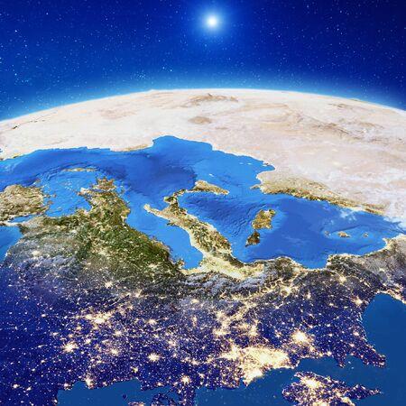 Photo pour Europe at night. - image libre de droit