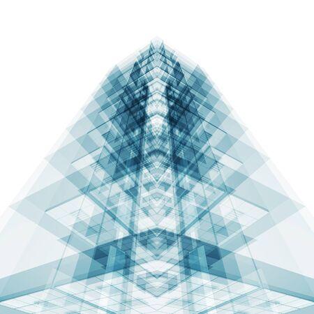 Foto de Abstract architecture concept. White isolated. 3d rendering - Imagen libre de derechos