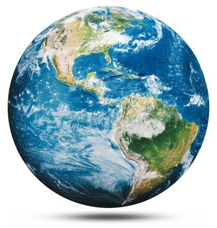 Photo pour Planet Earth globe isolated.  3d rendering - image libre de droit