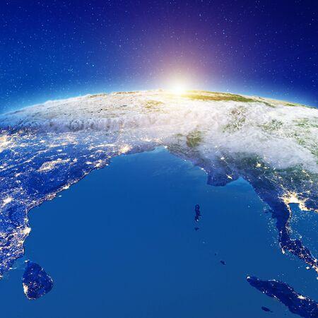 Photo pour Indian ocean from space.   3d rendering - image libre de droit