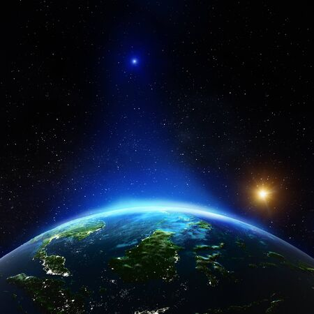 Photo pour Indonesia from space. 3d rendering - image libre de droit