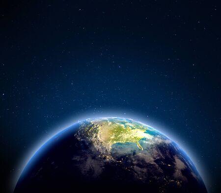 Foto de USA from space. 3d rendering - Imagen libre de derechos