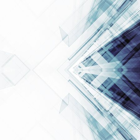 Foto de Abstract architecture background. Modern concept 3d rendering - Imagen libre de derechos