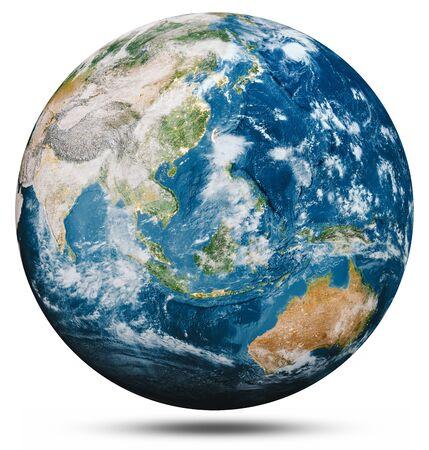 Foto de Planet Earth globe isolated. - Imagen libre de derechos