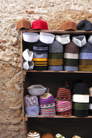 Small hat shop in the Medina of Fes, Morocco