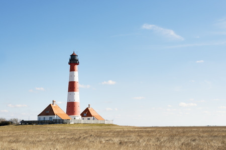 Image of lighthouse westerhever in northern Germany