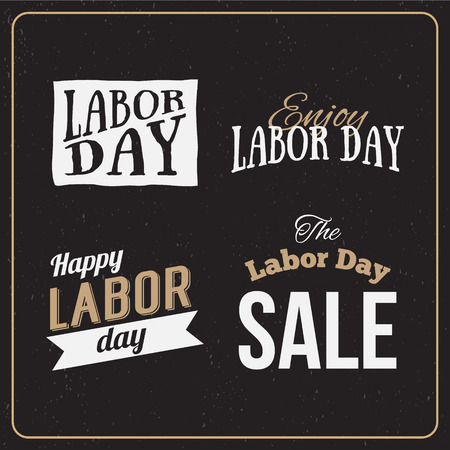 Vector Illustration Labor Day A National Holiday Of The United