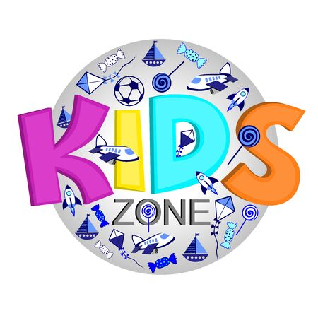 Illustration for Logo for the organization of the development of children, a zone for the entertainment of children - Royalty Free Image