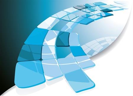 Foto de Blue technological banner. Vector illustration  - Imagen libre de derechos