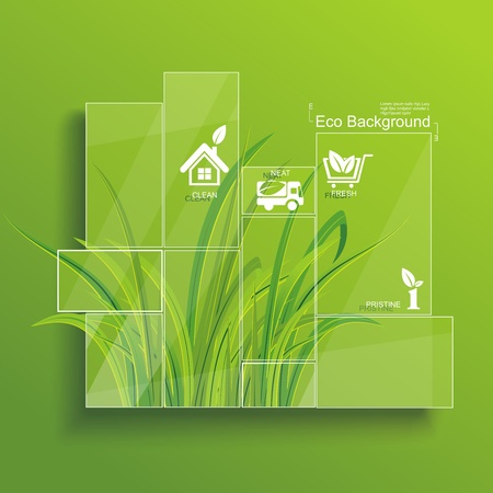 Photo for Environment concept  Grass behind the glass  - Royalty Free Image