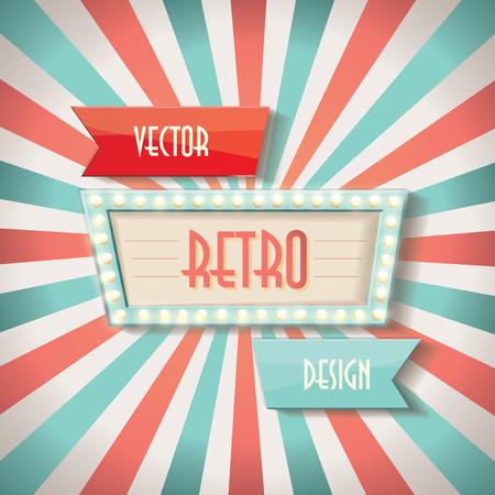 Illustration pour Vintage faded background. Retro stripes or beams. - image libre de droit