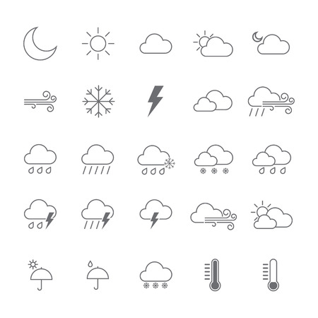 Illustration for Set of Weather icon. isolated Vector illustration - Royalty Free Image