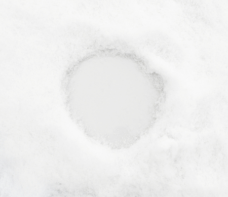 snow textura with rond space for text or numeral