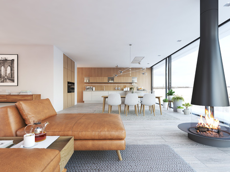 Photo for Modern design of loft apartment - Royalty Free Image