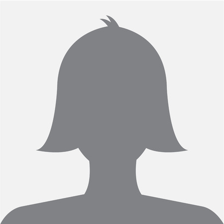 Female profile avatar icon dark grey on white background use for social network. Vector.