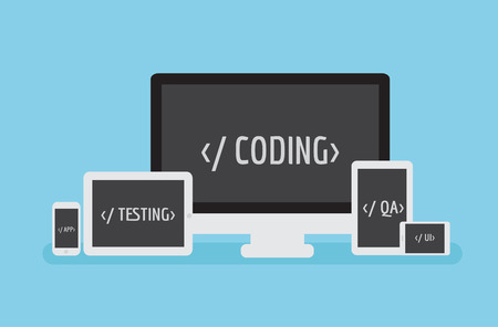 Coding Responsive. Software mobile application development