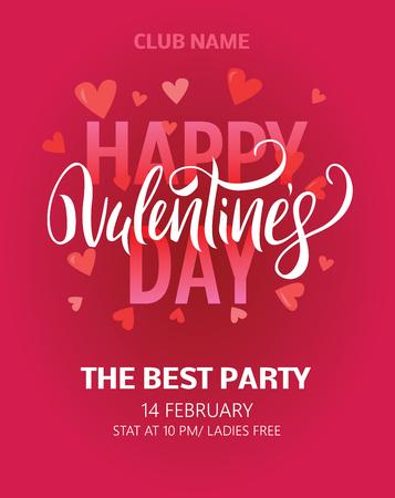 Illustration pour Valentines Day Party Flyer. Vector illustration EPS8 - image libre de droit